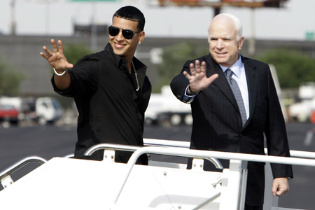 Since when did Daddy Yankee become McCain's rollin' buddy?