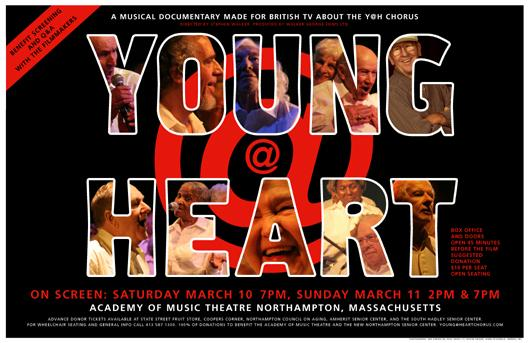 "Must see film ""Young @ Heart"". Senior citizens cover rock and roll hits from James Brown to Coldplay."