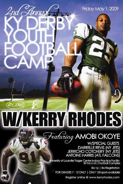 Kerry Rhodes, Amobi Okoye and Friends Bring the 2nd Annual KY Derby Youth Football Camp and the Celebrity Basketball Game Back to Louisville, KY