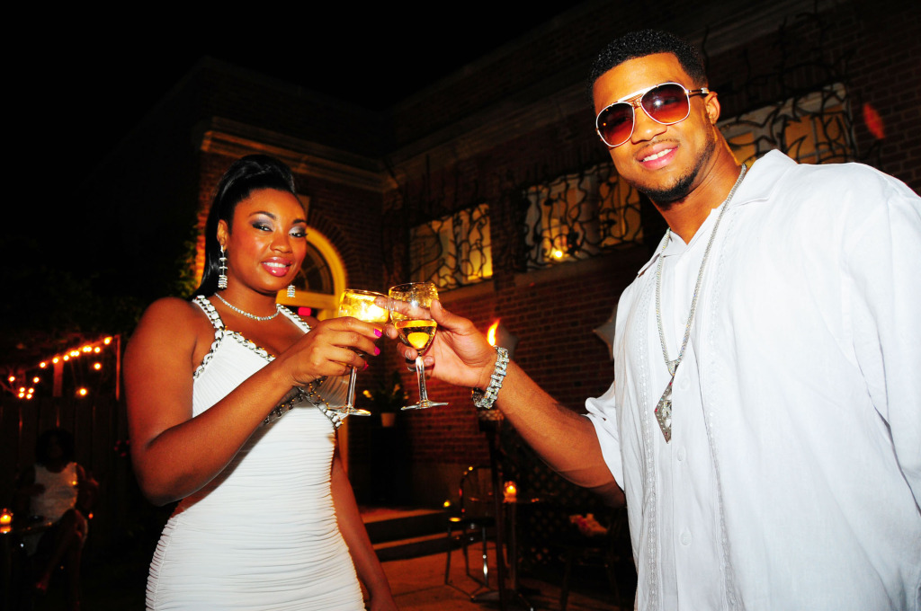 Event Recap- Aaron Maybin and Liris Crosse First Annual Kings & Queens All White Affair
