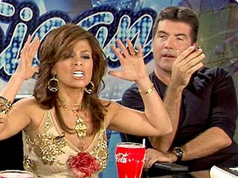 "Quick! Someone hand me a paper bag! Paula Abdul is leaving ""American Idol."""