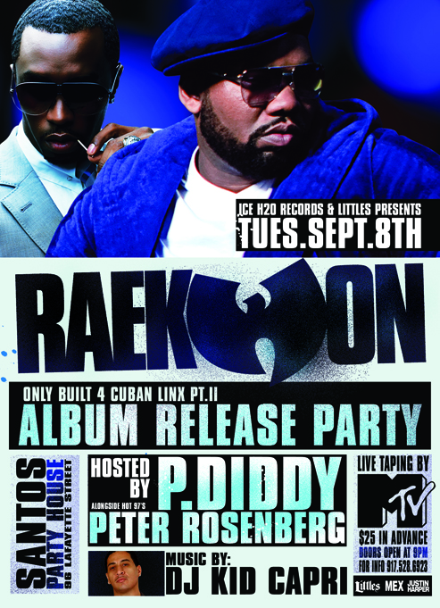 Raekwon's Album Release Party Sep 8, 2009 at Santos Party House in NYC
