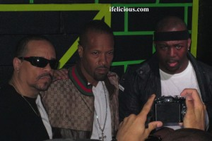 Ice T, Redman, Eric Sermon pose inside Santos Party House.  Photo by:  Ife Blount.