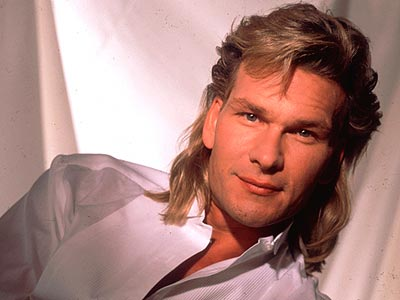 this photo is soooo 80s. RIP Patrick Swayze.