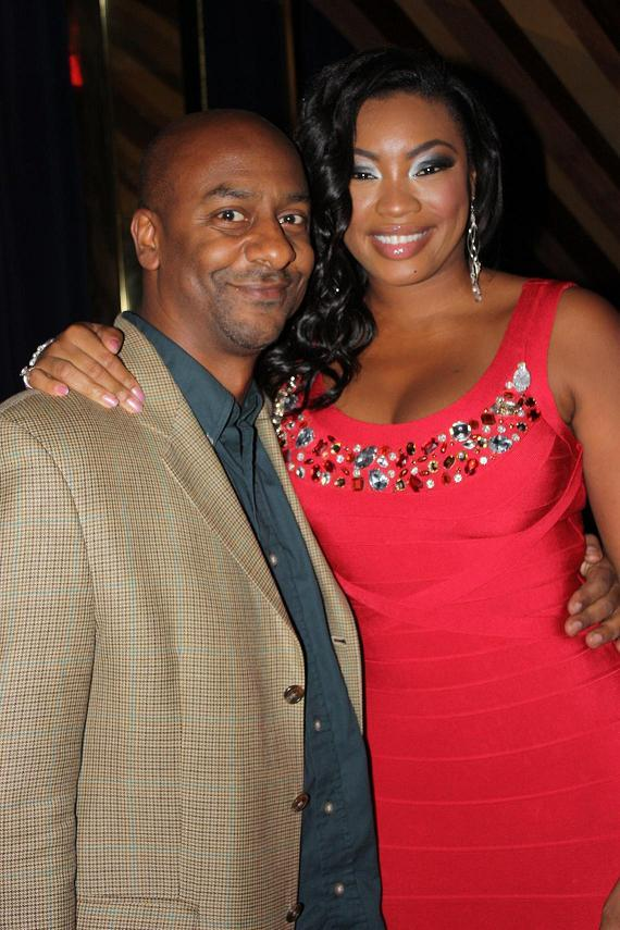 Executive Vice President of Entertainment and Music Programming for BET Stephen G. Hill and Model/Actress Liris Crosse (Image by David Shellman)