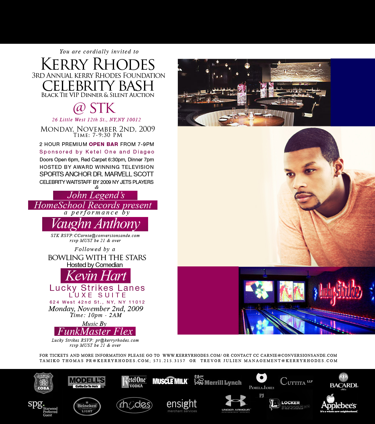 "EVENT RECAP: 3rd Annual Kerry Rhodes Foundation Celebrity Events ""Bowling with the Stars"""