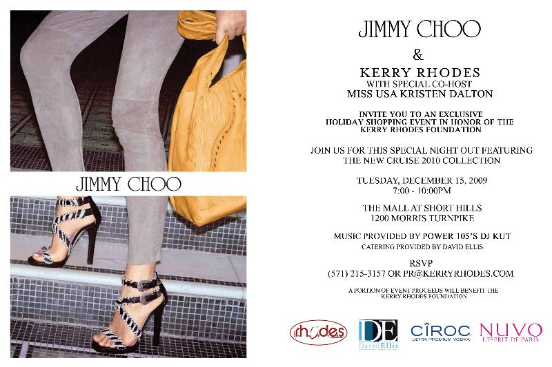Jimmy Choo and Kerry Rhodes exclusive holiday shopping experience at The Mall at Short Hills on Dec 15, 2009