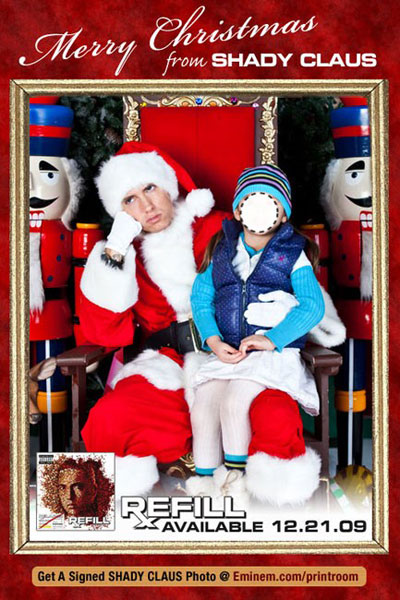 Sit on Shady Claus' lap and tell Eminem if you've been naughty or nice
