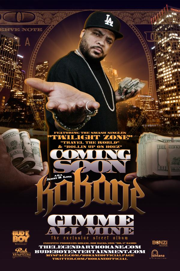 "The legendary Mr. Kane/Kokane to release new solo LP ""Gimme All Mine"" on June 1 (free mp3 download)"