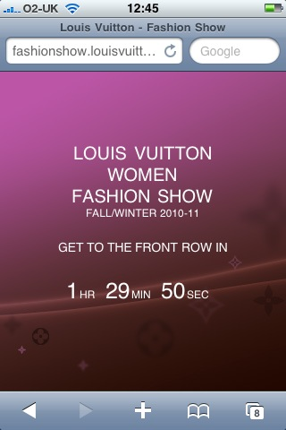 Louis Vuitton Fall/Winter 2010-11 collection streams live from Paris on Facebook
