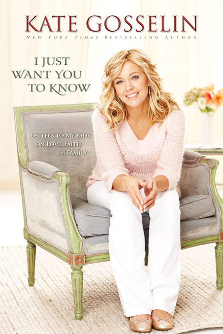"Kate Gosselin's next book ""I Just Want to Know"" in bookstores April 2010"