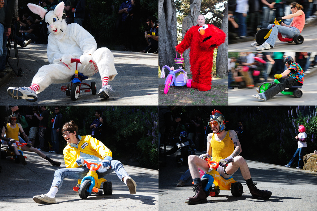 10th annual Bring Your Own Big Wheel Race in San Francisco