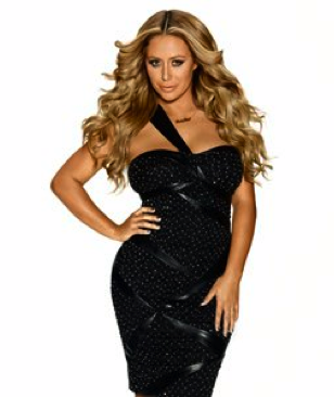Aubrey O'Day in Black Dress