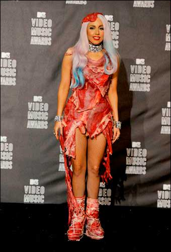 Lady Gaga raw meat dress