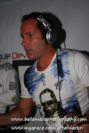 Strobe light on DJ Louie DeVito and success of The New Dance Mix USA
