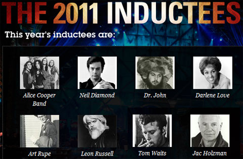 2011 Rock and Roll Hall of Fame inductees and presenters…plus Women Who Rock exhibit coming soon