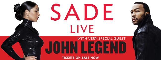 Sade announces RnB superstar John Legend will join her on all 2011 tour dates