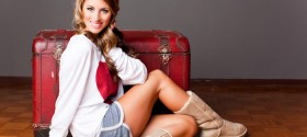 "ABC's ""The Bachelor"" season 14 contestant Tenley Molzahn models for Whooga ugg boots"