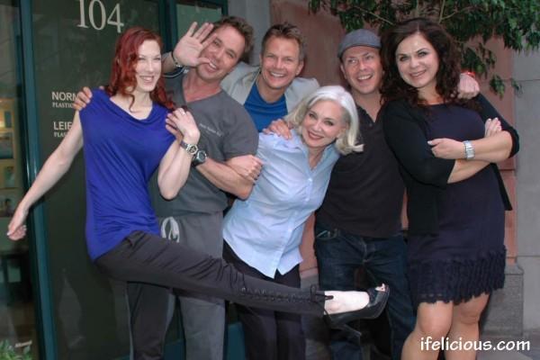 Cast from Logo TV's Pretty Hurts in fun pose