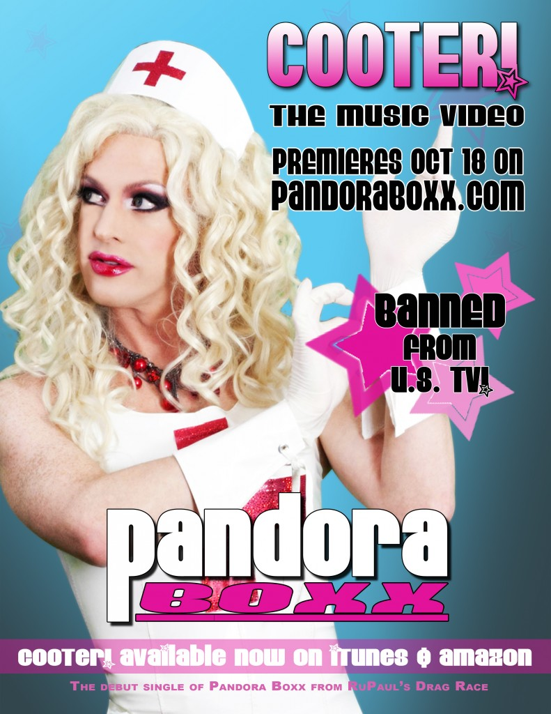 Drag queen Pandora Boxx's debut music video 'Cooter' banned from US TV amidst launching world tour