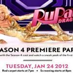 RuPaul's Drag Race season 4 premier flier
