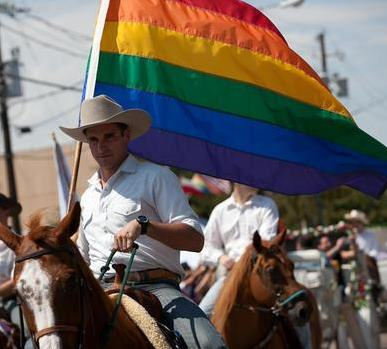 Levi Crocker horse gay flag A List Dallas