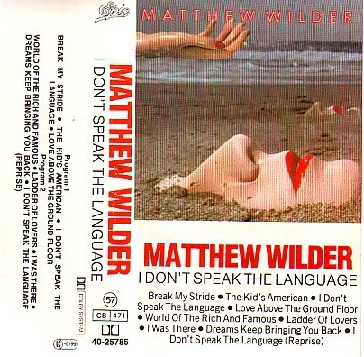 Matthew Wilder Break My Stride I Don't Speak The Language