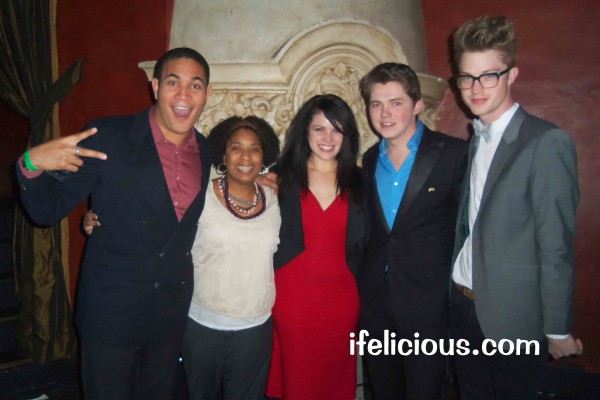 Bryce Vine Ifelicious Lindsay Pearce Damian McGinty Cameron Mitchell NewNowNext Awards 2012 The Glee Project