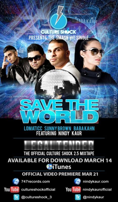 Nindy Kaur Culture Shock single Save The World