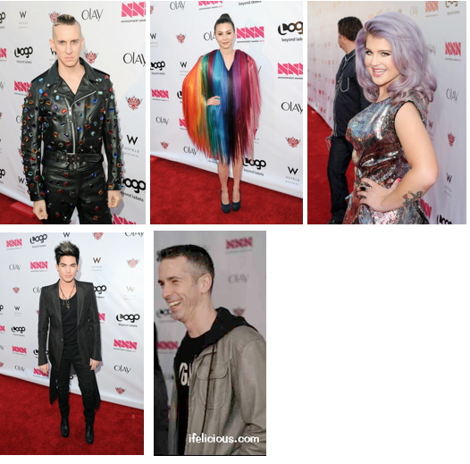 NewNowNext Awards Logo Jeremy Scott China Chow Kelly Osbourne Adam Lambert Dan Savage