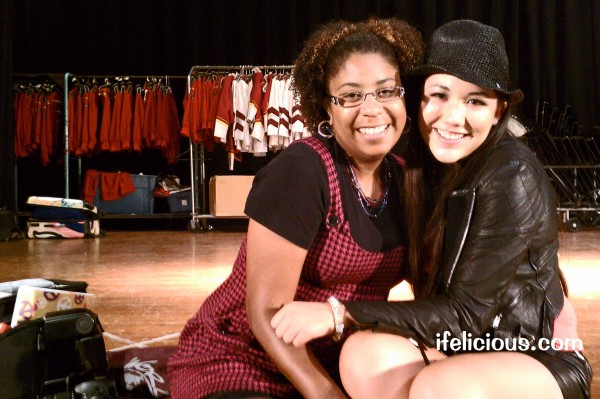 (L-R) Celebrity blogger Ifelicious and Pop singer Manika. Sep 13, 2011. Milwaukee, WI