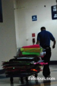 One Direction fan made signs taken away at Allstate Arena Chicago 2012