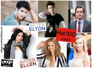 AfterEllen AfterElton Hot 100 Men Women 2012