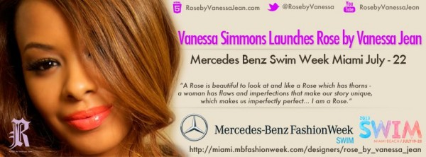 Rose by Vanessa Jean swimwear Mercedes Benz Fashion Week Miami 2013