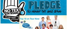 'It Can Wait' no texting and driving campaign teams up with American Idol LIVE! 2012 tour