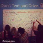 AT&T It Can Wait No Text Drive Pledge Wall Milwaukee American Idol