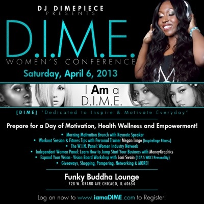 DJ Dimepiece women's conference 2013 Chicago Funky Buddha Lounge