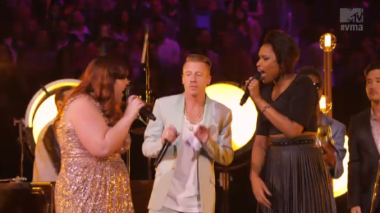 Macklemore Jennifer Hudson J-Hud Mary Lambert Same Love MTV VMA 2013
