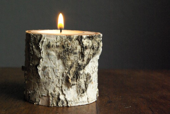 birch wood candle DIY crafts Oleander and Palm