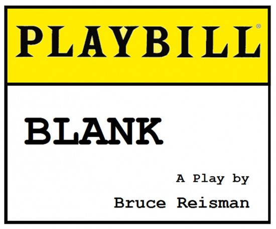 Playbill Logo Blank playbill play theater