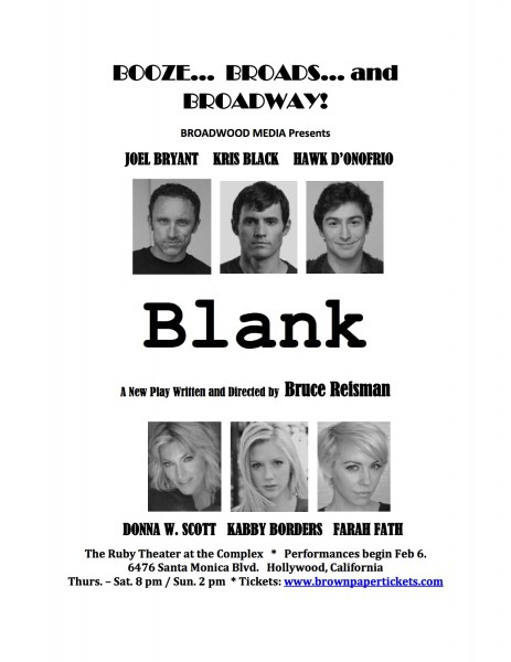 Blank play theater Bruce Reisman Los Angeles Hollywood
