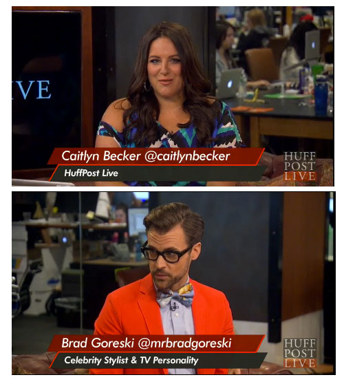 HuffPost Live Caitlyn Becker Brad Goreski fashion summer style