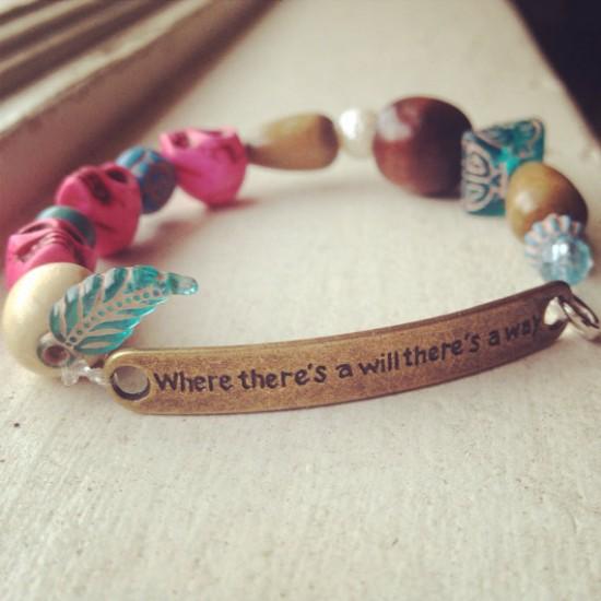 Etsy bracelet Cara Maria Sorbello Diem Brown cancer