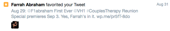 Farrah Abraham Couples Therapy reunion Twitter